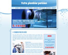 Votre plombier parisien (webdesign)