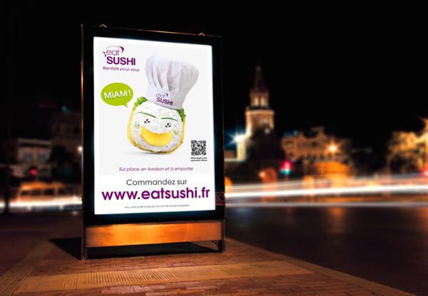 Affiche eat SUSHI 1