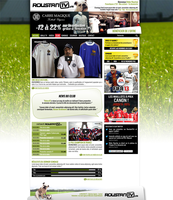 Roustan TV - webdesign