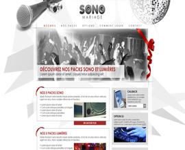 SONO Mariage webdesign